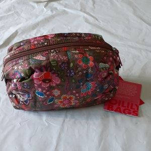 Oilily Cosmetic Bag Nwt Color Wood